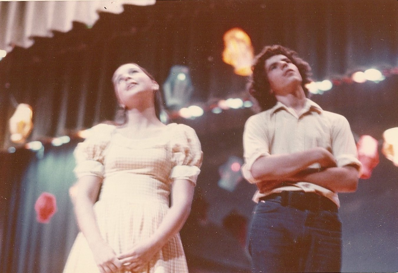Nancy Grace as Ado Annie and me as Will Parker in Oklahoma