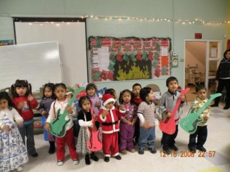 Neighborhood kids at NVCS holiday program