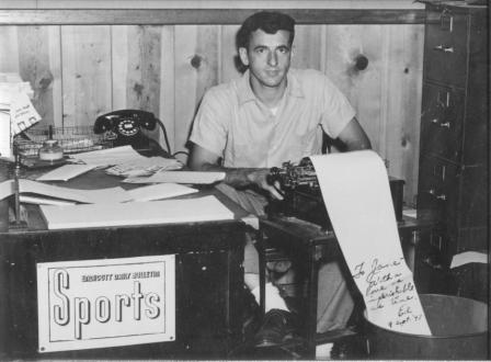 My dad as a young sports writer in Binghamton, New York
